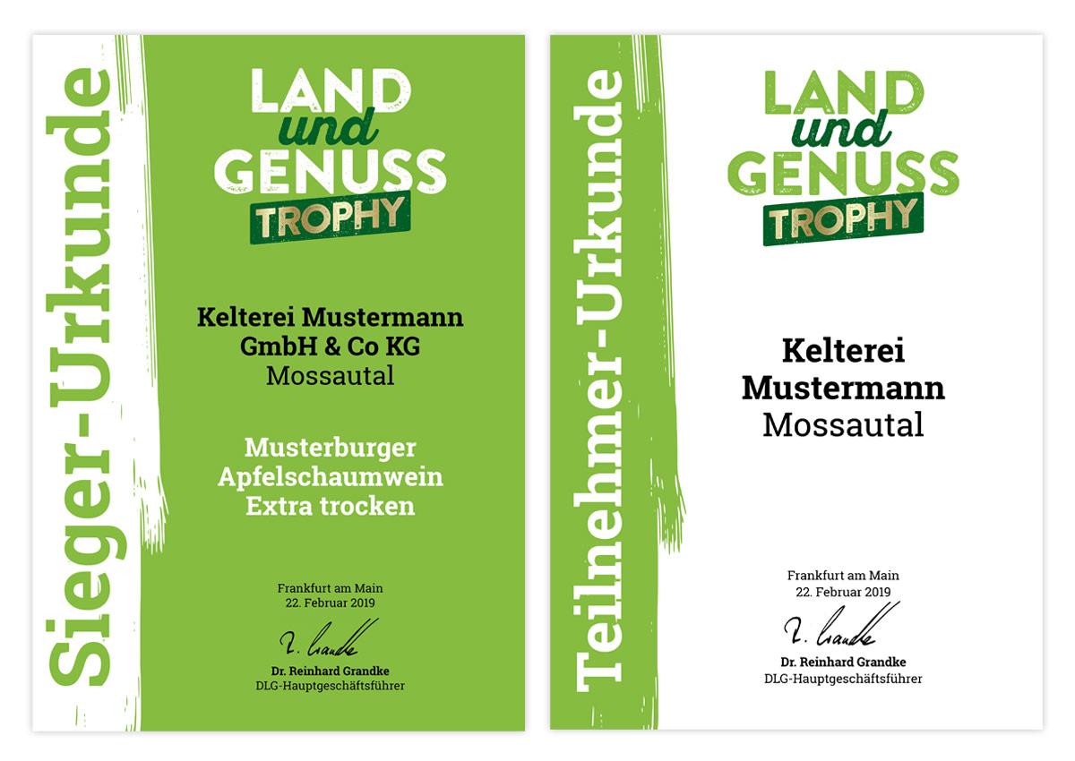 Land-und-Genuss-Urkunden