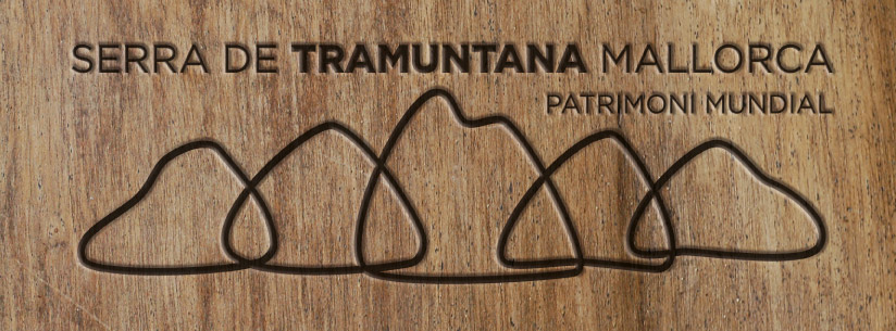 Logo Serra de Tramuntana. Usos blanco y negro