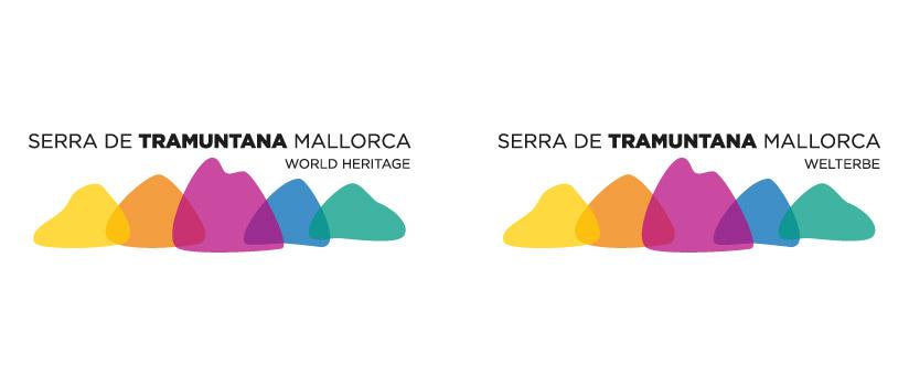 Logo Serra de Tramuntana Variantes idiomas